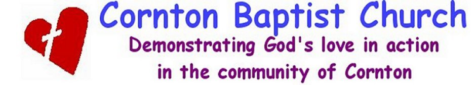 Youth and Community Worker - Cornton Baptist Church